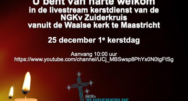 Uitnodiging livestream kerstdienst