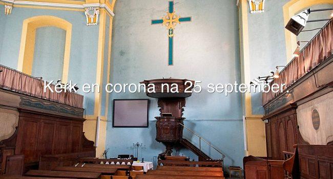 Kerk en Corona na 25 september